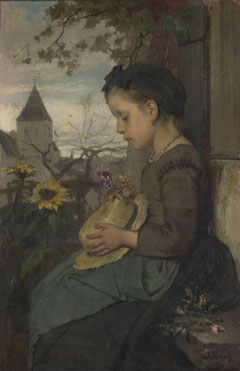 Jacob Maris: 'A Girl seated outside a House'