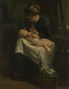 Jacob Maris: 'A Young Woman nursing a Baby'