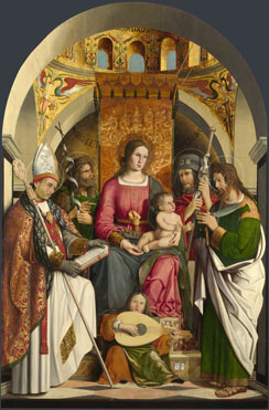 Marco Marziale: 'The Virgin and Child with Saints'