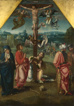 Workshop of the Master of 1518: 'The Crucifixion'