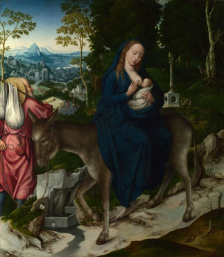 Workshop of the Master of 1518: 'The Flight into Egypt'