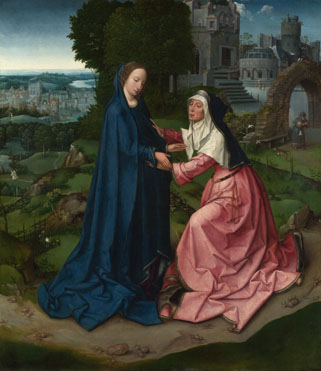 Workshop of the Master of 1518: 'The Visitation of the Virgin to Saint Elizabeth'