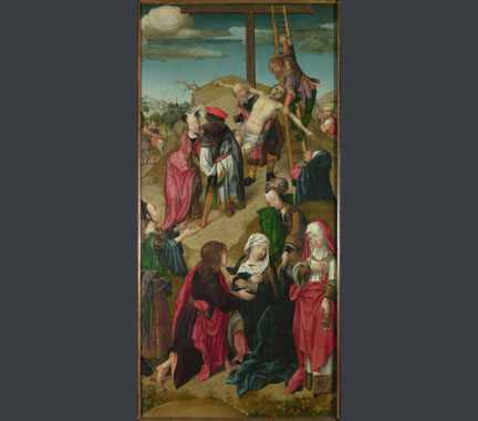 Master of Delft, 'The Deposition: Right Hand Panel from Triptych: Scenes from the Passion of Christ', about 1510