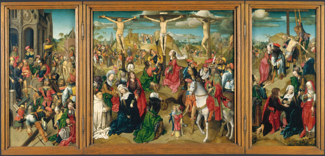 Master of Delft: 'Triptych: Scenes from the Passion of Christ'