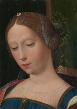 Attributed to the Workshop of the Master of the Female Half-Lengths: 'A Female Head'