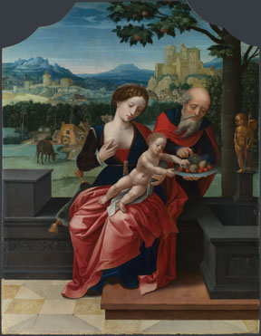 Workshop of Master of the Female Half-Lengths: 'The Rest on the Flight into Egypt'