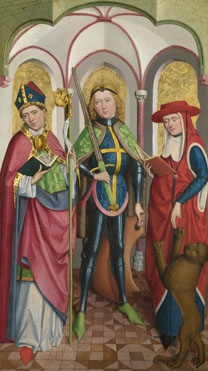 Circle of the Master of Liesborn: 'Saints Ambrose, Exuperius and Jerome'