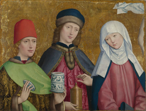 Mesteren av Liesborn: De hellige Kosmas og Damian og Jomfruen (1470-80), The National Gallery i London
