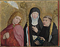 Saints John the Evangelist, Scholastica and Benedict