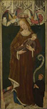 Circle of the Master of Liesborn: 'The Virgin and Child with a Donor'