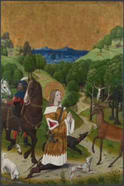 Master of the Life of the Virgin: 'The Conversion of Saint Hubert: Left Hand Shutter'