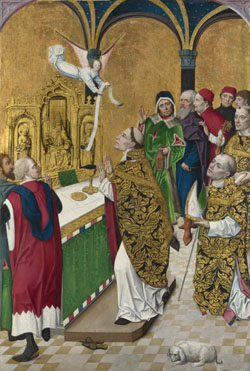 Workshop of the Master of the Life of the Virgin: 'The Mass of Saint Hubert: Right Hand Shutter'