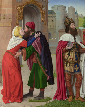 Master of Moulins (Jean Hey): 'Charlemagne and the Meeting at the Golden Gate'