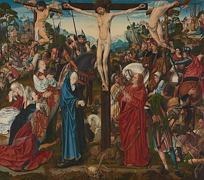 Master of the Aachen Altarpiece: 'The Crucifixion'
