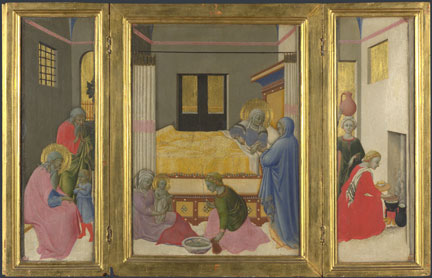 Master of the Osservanza, 'The Birth of the Virgin', about1440