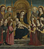 The Virgin and Child with Four Saints and Twelve Devotees