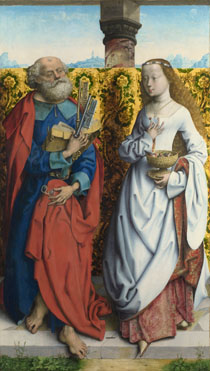 Master of the Saint Bartholomew Altarpiece: 'Saints Peter and Dorothy'