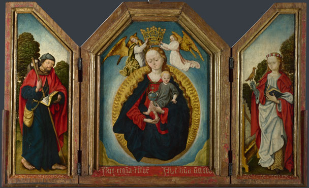 Workshop of the Master of the Saint Bartholomew Altarpiece: 'The Virgin and Child in Glory with Saints'