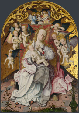 Master of the Saint Bartholomew Altarpiece: 'The Virgin and Child with Musical Angels'