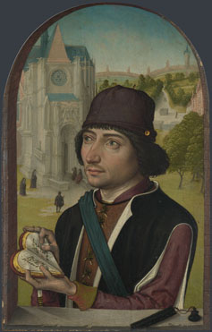 Master of the View of St Gudula: 'Portrait of a Young Man'