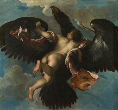 Attributed to Damiano Mazza: 'The Rape of Ganymede'