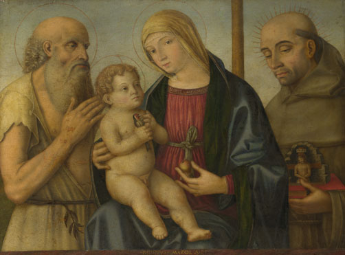Filippo Mazzola: 'The Virgin and Child with Saints'