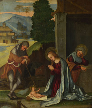 Lodovico Mazzolino: 'The Nativity'