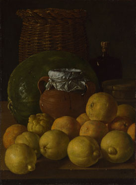 Luis Meléndez: 'Still Life with Lemons and Oranges'