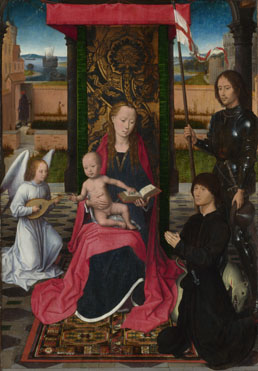 Hans Memling: 'The Virgin and Child with an Angel'