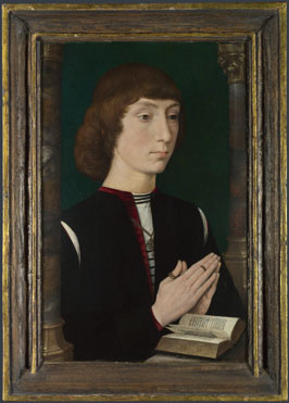 Hans Memling: 'A Young Man at Prayer'