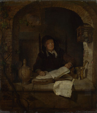 Gabriel Metsu: 'An Old Woman with a Book'