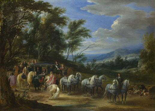Adam-François van der Meulen: 'Philippe François d'Arenberg meeting Troops'