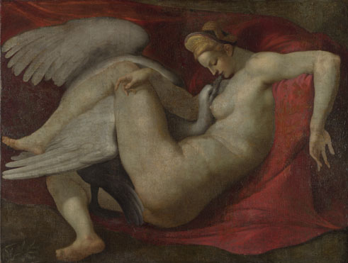 After Michelangelo: 'Leda and the Swan'
