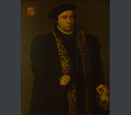 Attributed to Michiel Coxcie, 'A Man with a Skull', about 1560 or later