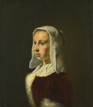 Frans van Mieris the Elder: 'Portrait of the Artist's Wife, Cunera van der Cock'