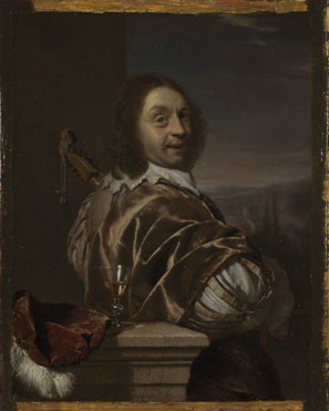 Frans van Mieris the Elder: 'Self Portrait of the Artist, with a Cittern'