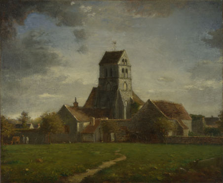Follower of Jean-François Millet: 'Landscape with Buildings'