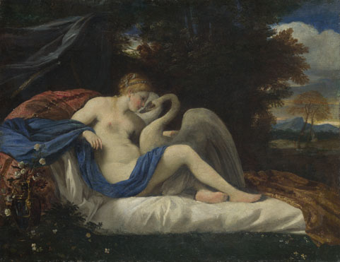 Style of Pier Francesco Mola: 'Leda and the Swan'