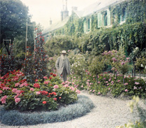 Monet at garden at Giverny