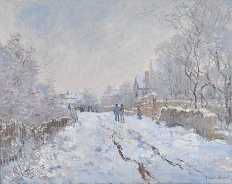 Claude-Oscar Monet: 'Snow Scene at Argenteuil'