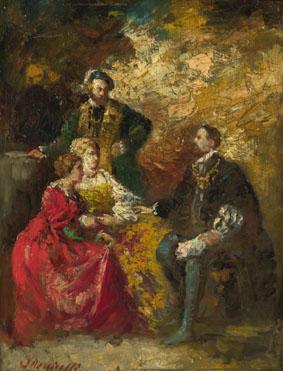 Adolphe Monticelli: 'Conversation Piece'