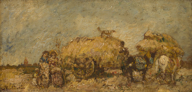 Adolphe Monticelli: 'The Hayfield'