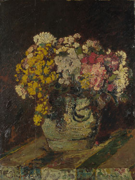 Adolphe Monticelli: 'A Vase of Wild Flowers'