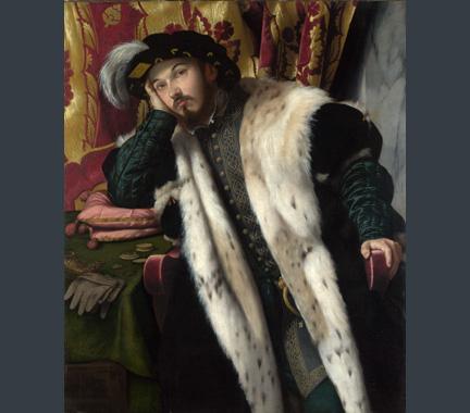 Moretto da Brescia, 'Portrait of a Young Man', about 1540-5