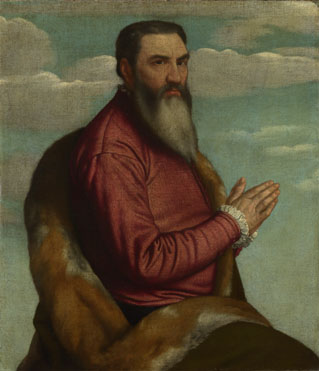 Moretto da Brescia: 'Praying Man with a Long Beard'