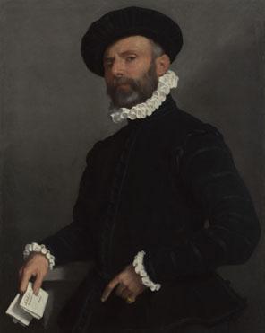 Giovanni Battista Moroni: 'Portrait of a Man holding a Letter ('L'Avvocato')'