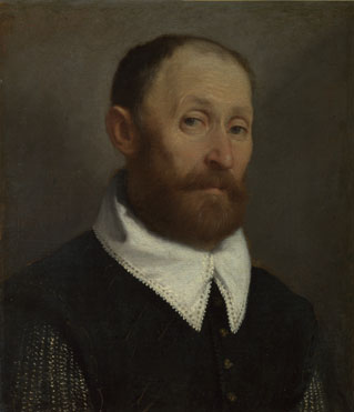 Giovanni Battista Moroni: 'Portrait of a Man with Raised Eyebrows'