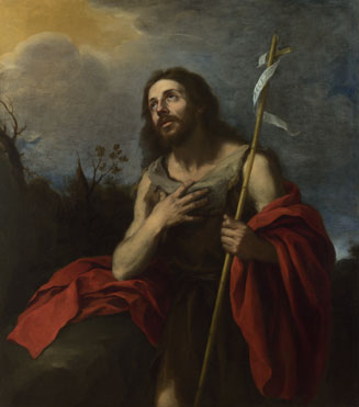 Attributed to Bartolomé Esteban Murillo: 'Saint John the Baptist in the Wilderness'