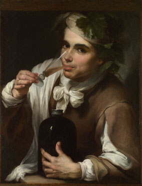 Style of Bartolomé Esteban Murillo: 'A Young Man Drinking'