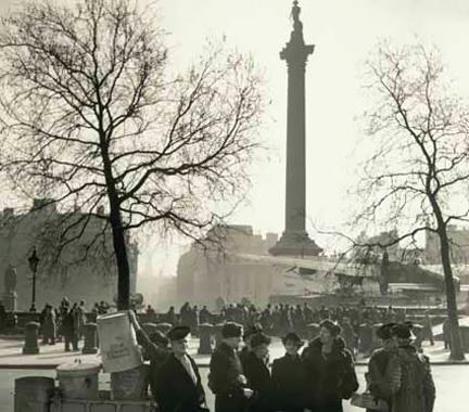 Spitfire plane in Trafalgar Square